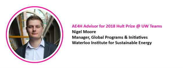AE4H Offering Support and Advice to 2018 Hult Prize @ UW Competitors